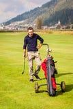 Zmęczony golfowy gracz Zdjęcia Royalty Free