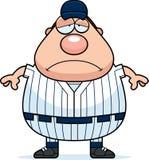 Zmęczony gracz baseballa royalty ilustracja