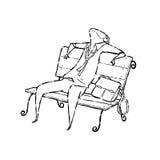 Zmęczony mężczyzna na krześle Fotografia Stock