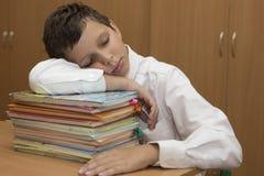 Zmęczony uczeń Zdjęcie Stock