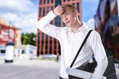 Zmęczony architekt po pracy Zdjęcie Stock