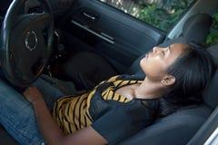 Zmęczony kierowca Fotografia Stock