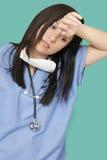 zmęczony professiona opieki zdrowotnej Obrazy Royalty Free