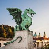 Zmajski most (Dragon bridge), Ljubljana, Slovenia, Europe Royalty Free Stock Photo