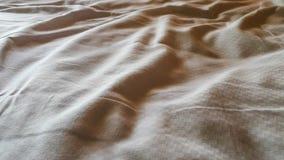 Zmarszczenia biali prześcieradła Fotografia Royalty Free