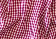 Zmarszczenie tkaniny szkocka krata Fotografia Royalty Free