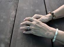 Zmartwione ręki Zdjęcia Royalty Free