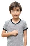 Zmartwionej dzieciak ręki szyldowy język Obraz Royalty Free