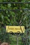 Zmartwiony Intymny znak Zdjęcie Royalty Free