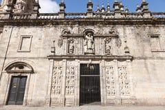 Zmartwiony Katedra Santiago De Compostela Zdjęcia Stock