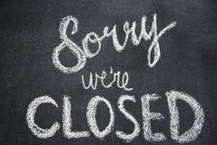 Zmartwiony my ` ponowny zamknięty fotografia stock