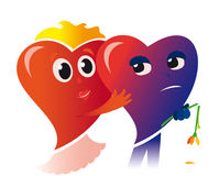 zmartwiony valentine Fotografia Royalty Free