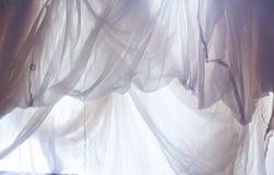 Zmięta biała tkaniny płótna tekstura Fotografia Stock