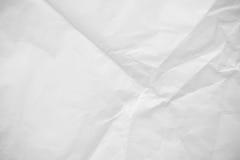 Zmięta Białego papieru tekstura Zdjęcie Royalty Free