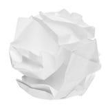 Zmięta papierowa piłka Obrazy Stock
