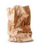 Zmięta papierowa torba z tłuszczy punktami Obraz Stock