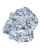 Zmięta piłka aluminium Zdjęcia Stock