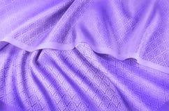Zmięta Tajlandzka jedwabnicza tkanina fotografia stock