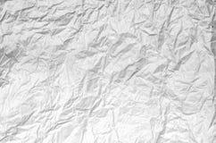 Zmięty biały papier od pakunku jako tło tekstura Fotografia Stock