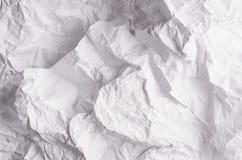 Zmięty marszczący falisty siwieje papierową teksturę, abstrakcjonistyczny wieloboka tło Fotografia Royalty Free