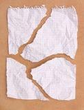 zmięty nutowy papier obszarpywał Zdjęcie Stock
