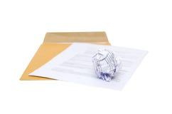 Zmięty papier w ręce Obrazy Royalty Free