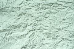 Zmięty przetwarza papier od pakunku jako tło tekstura Zdjęcie Stock
