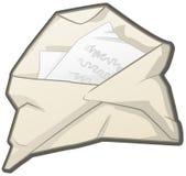 Zmięty Rozpieczętowany list royalty ilustracja