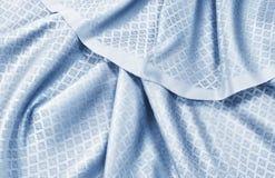 Zmięta tajlandzka jedwabnicza tkanina Obrazy Royalty Free