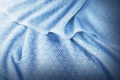 Zmięta Tajlandzka jedwabnicza tkanina Obraz Stock