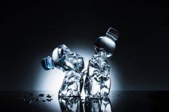 Zmięte plastikowe butelki woda Obraz Royalty Free