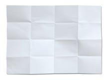 zmięty odosobniony papierowy biel Fotografia Royalty Free