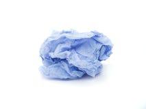 Zmięty papier na bielu Obraz Stock