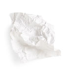 zmięty papierowy biel Zdjęcie Stock