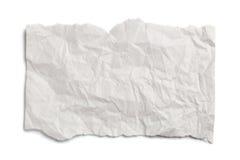 zmięty papierowy biel Zdjęcie Royalty Free