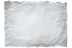 zmięty papierowy biel Fotografia Stock