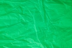 zmięty zielony papier Zdjęcia Royalty Free