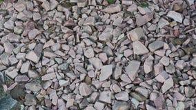 zmia?d?ona kamieniem zdruzgotany kamień dwa koloru ?wir Zako?czenie zdjęcie wideo