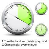 zmiana łatwa czas każdy minutowy jeden zegar Obrazy Stock