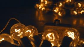 Zmiana, elektrycznego luzowania retro girlanda handmade mistrzowski elektryk Fotografia Stock