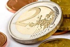 zmiana euro Zdjęcia Stock