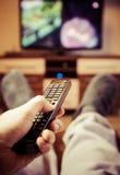 Zmiana kanały telewizyjni Obrazy Stock