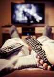 Zmiana kanały telewizyjni Obraz Stock