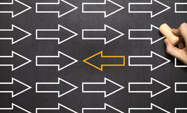 Zmiana kierunek - zarządzania pojęcia Biznesowy Blackboard obrazy stock