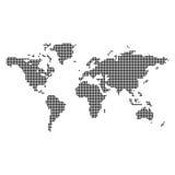 zmiana koloru abstrakcyjnych kropki kropkowali łatwo zrobić zgrupowanego mapa świata Fotografia Stock