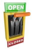 Zmiana Otwarta i Zamknięta Obrazy Stock