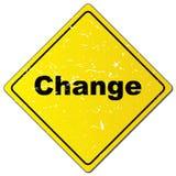 Zmiana ruchu drogowego znak royalty ilustracja