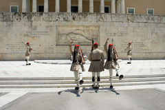 Zmiana strażnik honor przy Greckim parlamentem, Ateny, Grecja, 06 2015 Obraz Royalty Free