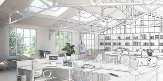 Zmiana strukturalna - projekta 3d unaocznienie royalty ilustracja
