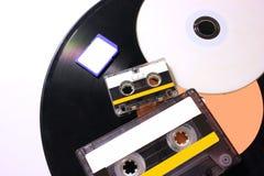 Zmiana technologia od gramofonowych dysków zdjęcie royalty free